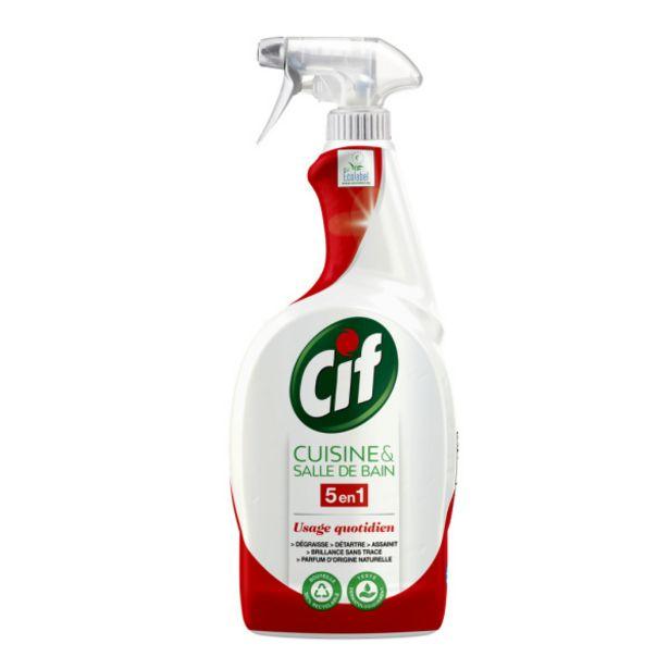 Spray nettoyant cuisine sdb 5en1 offre à 3,4€