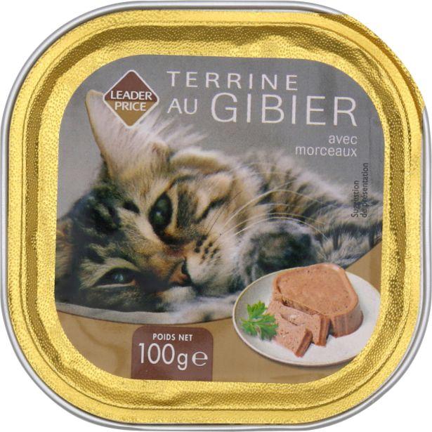 Aliment pour chat au gibier offre à 0,65€