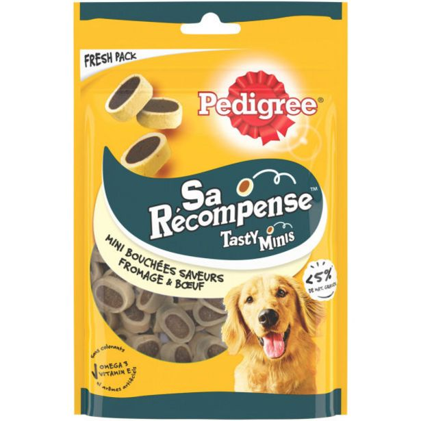 Gourmandise chien fromage boeuf offre à 2,15€
