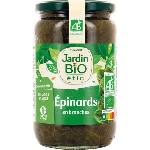 Epinards en branche bio offre à 3,89€