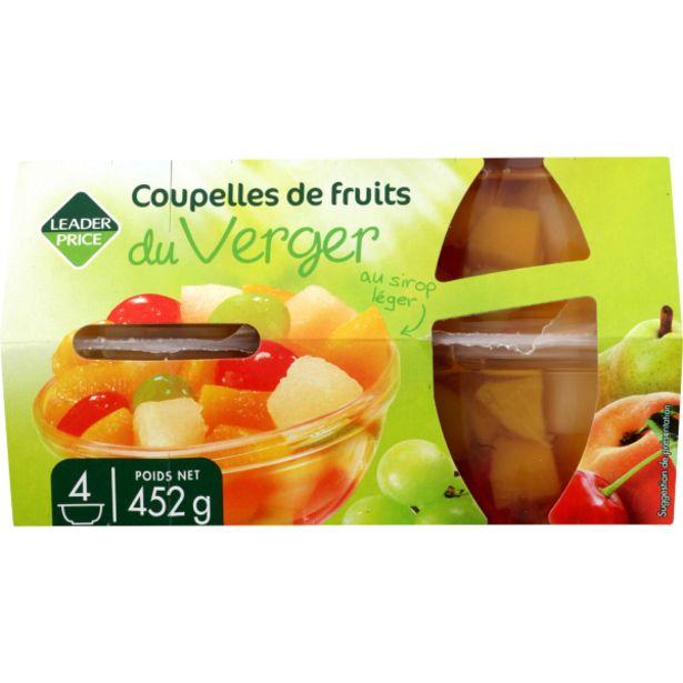 Coupelles de fruits du verger offre à 2,19€