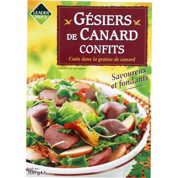Gesiers canard confits offre à 4,55€