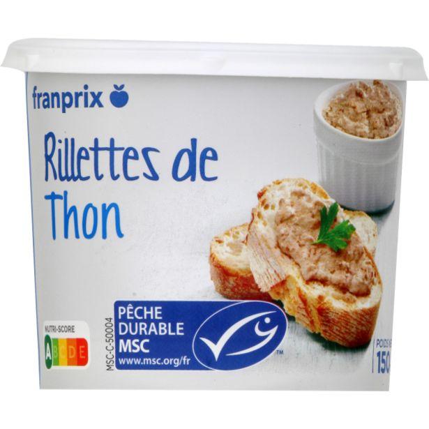 Rillettes de thon offre à 2,2€