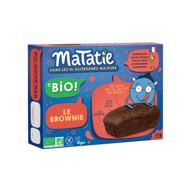Brownie chocolat Bio offre à 3,99€