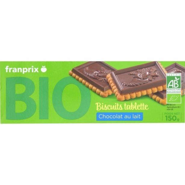 Biscuit tablette chocolat lait bio offre à 1,95€