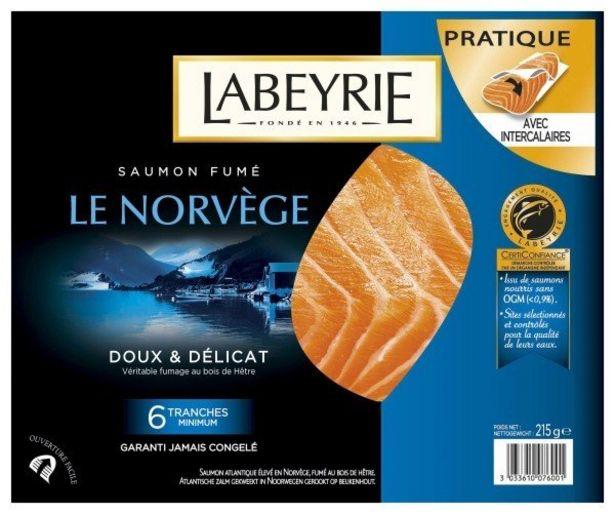 6 tranches de saumon fumé de Norvège offre à 10,5€