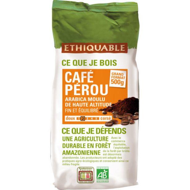 Café du Pérou équitable Bio offre à 7,4€