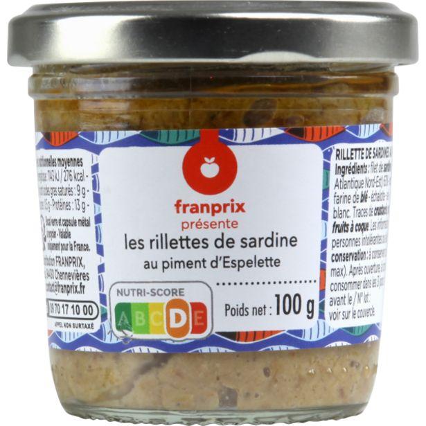Rillettes sardine Espelette offre à 3,5€