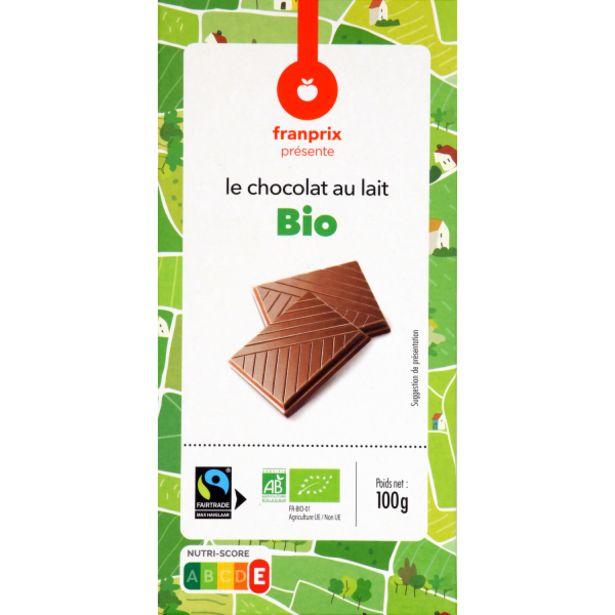 Chocolat au lait Bio offre à 1,35€
