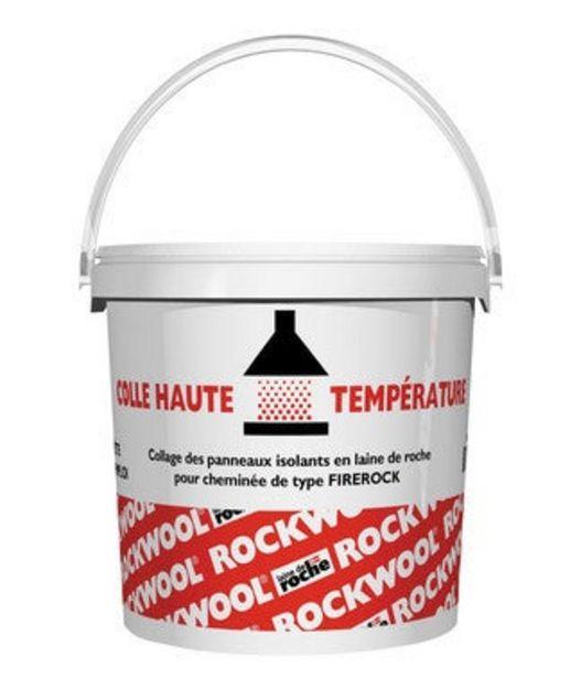Colle haute Temperature pour panneau laine de roche cheminée. offre à 35,85€