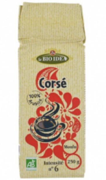 Café corsé moulu N°6 250G Bio offre à 3,4€