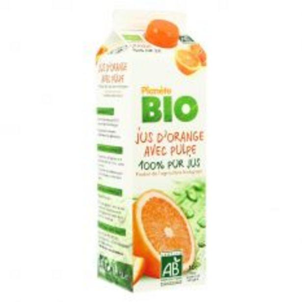 Jus d'orange avec pulpe 1L Bio offre à 3,39€