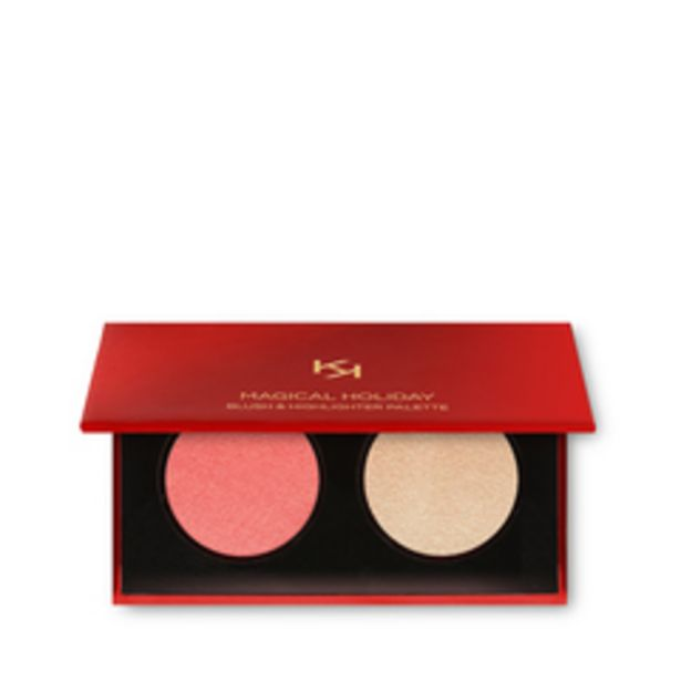 Magical holiday blush & highlighter palette offre à 11,9€