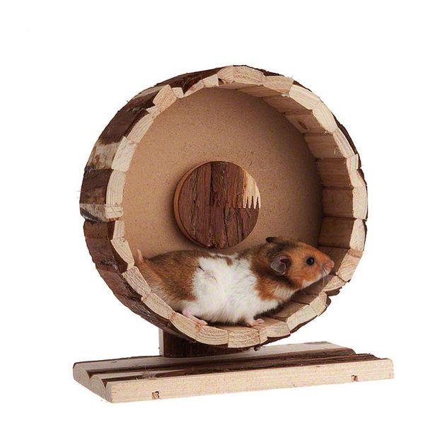 Roue en bois Speedy pour rongeur - 29 cm de diamètre, H 10 cm offre à 11,99€
