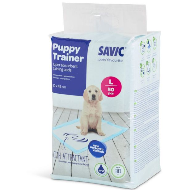 Puppy Trainer Savic taille M Tapis absorbants pour chiot 4x50 tapis offre à 38,99€