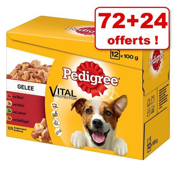 96x100g en terrine Pedigree nourriture humide pour chien offre à 26,29€