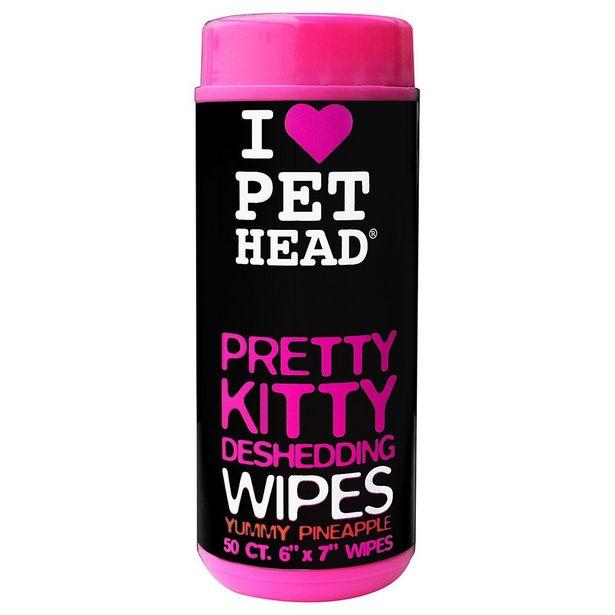Lingettes PET HEAD Pretty Kitty pour chat - 50 lingettes parfumées à l'ananas offre à 12,99€