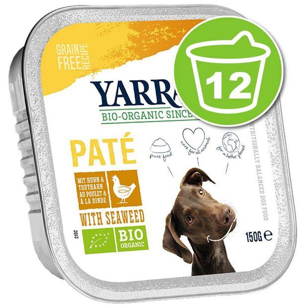 12x150g Pâté dinde, aloe vera sans céréales Yarrah - Nourriture pour chien offre à 11,99€