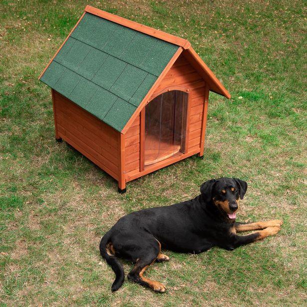 Spike Confort Niche avec porte en plastique pour chien - Taille XL 112x96x105 cm offre à 109,99€