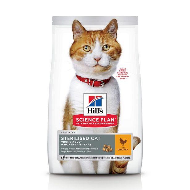 3 kg Sterilised Cat Young Adult Hill's Feline Croquettes pour chat offre à 21,99€