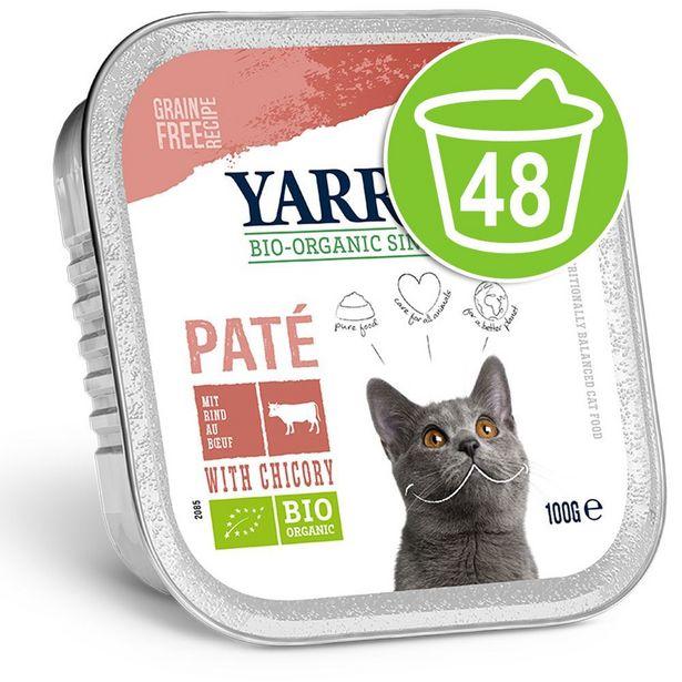 48x100g Yarrah Bio Wellness poulet, dinde, aloe vera pour chat offre à 38,99€