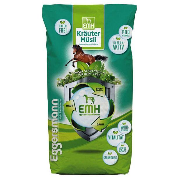 20kg EMH Eggersmann Muesli aux herbes - Muesli pour cheval offre à 29,99€