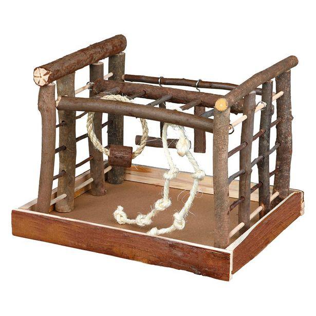 Aire de jeu en bois Trixie Natural Living pour perruche L 35 x l 29 x H 25 cm offre à 11,99€