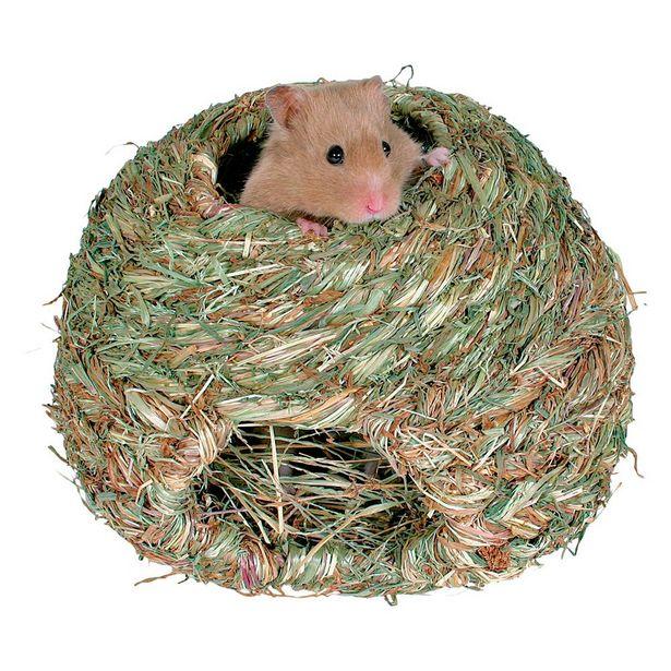 Niche d'herbe pour rongeur 16 cm de diam. - Lit et niche pour Rongeurs offre à 2,99€