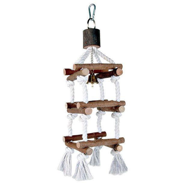 Jouet en bois Gantry Trixie L34 cm pour oiseaux - Jouet pour oiseau offre à 6,49€