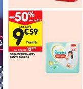 30 Pampers happy pants talle 5 offre à 12,18€
