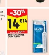 Oral-B vitality 100 cross action  offre à 14,14€