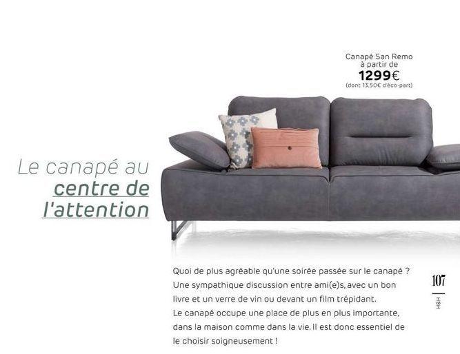 Canapé offre à 1299€