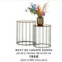 Bout de canapé offre à 199€