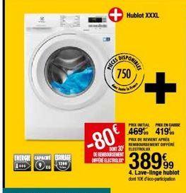 Lave-linge Electrolux offre à 389,99€