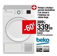 Sèche-linge Beko offre à 339,99€