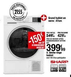 Sèche-linge Sharp offre à 399,99€