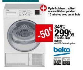 Sèche-linge Beko offre à 299,99€