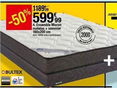 Ensemble de lit Bultex offre à 599,99€