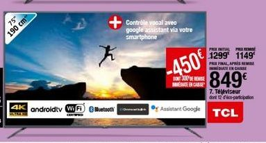 Téléviseur TCL offre à 849€