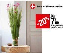 FAGOT Herbes fleuri H.55 cm  offre à 7,99€