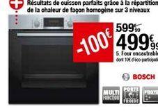Four encastrable Bosch offre à 499,99€