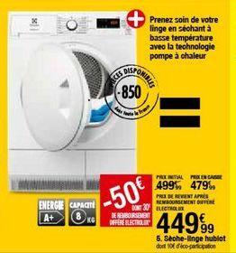 Sèche-linge Electrolux offre à 449,99€