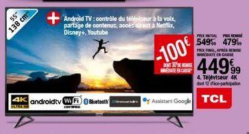 Téléviseur TCL offre à 449,99€
