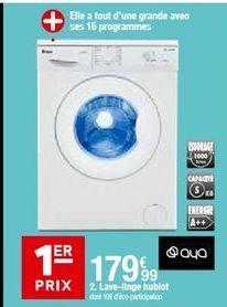 Lave-linge Aya offre à 179,99€