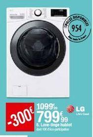 Lave-linge LG offre à 799,99€