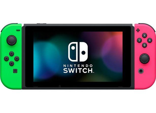 Console NINTENDO Switch Noir 32 Go + 2 Joy Con Vert & Rose offre à 279,99€