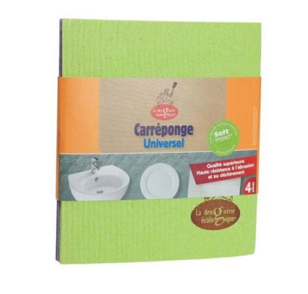 4 Carrés éponges Cellulose offre à 3,18€
