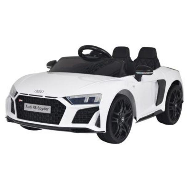 Voiture électrique AUDI R8 SPYDER - blanche offre à 169,9€