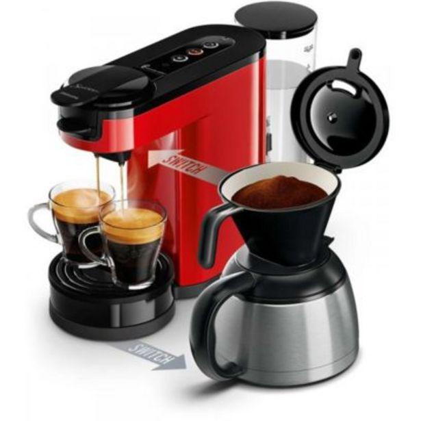SENSEO Switch Machine à café à dosettes et filtre Rouge HD... offre à 117,74€