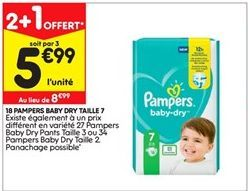 Couches Pampers offre à 5,99€